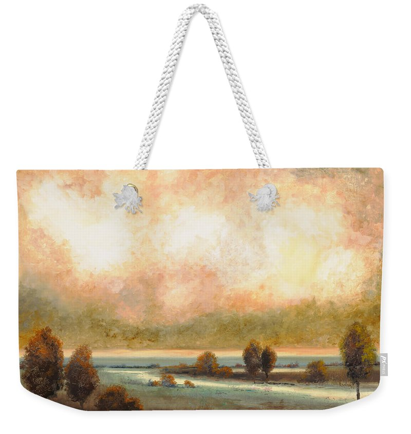 Pond Weekender Tote Bag featuring the painting Calor Bianco by Guido Borelli