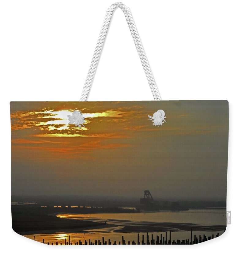 Cambodia Weekender Tote Bag featuring the photograph Cambodian Sunsets 1 by Ron Kandt