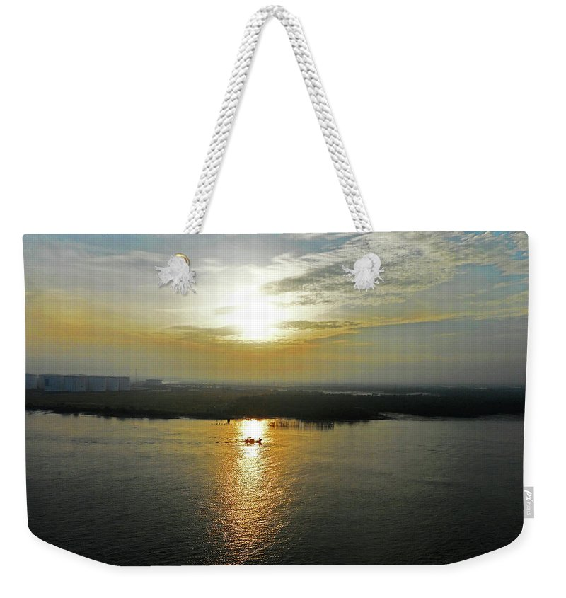 Cambodia Weekender Tote Bag featuring the photograph Cambodian Sunsets 3 by Ron Kandt