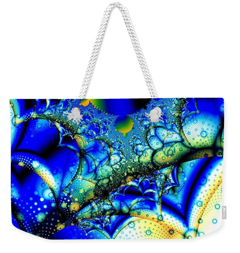 Thorns Weekender Tote Bag featuring the digital art Camel Thorn Seeds by Ron Bissett