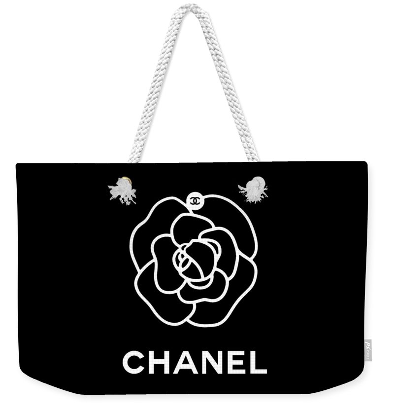 ada19e8a1a00 Camellia Chanel Weekender Tote Bag for Sale by Tres Chic