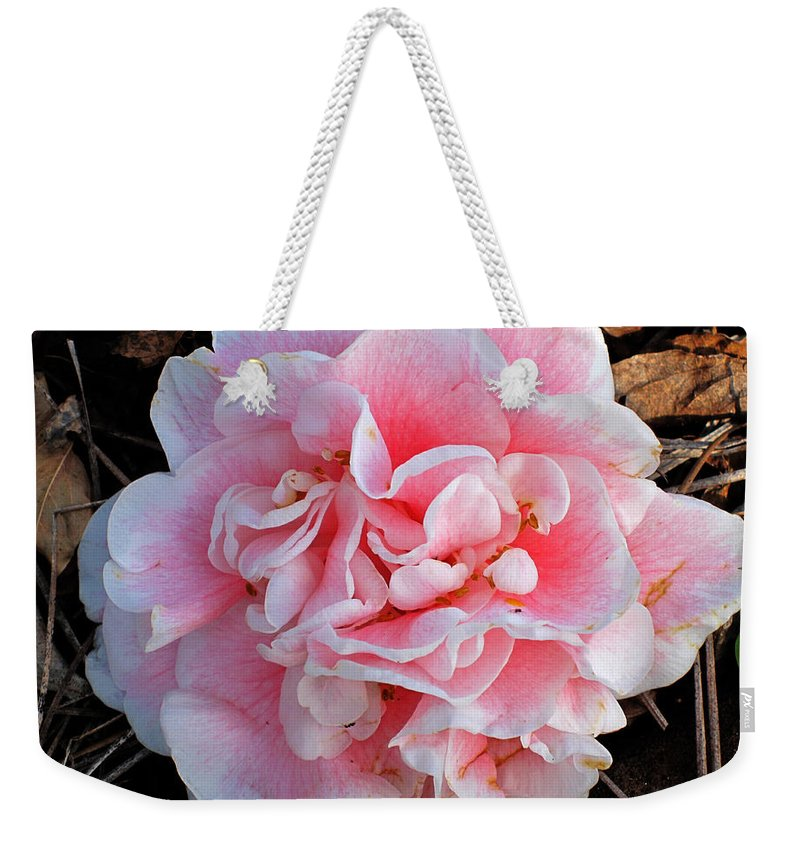 Photography Weekender Tote Bag featuring the photograph Camellia Flower by Susanne Van Hulst