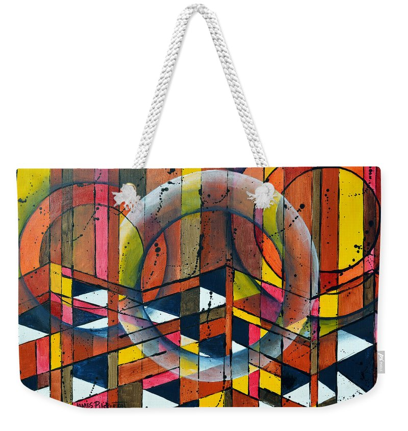 Abstract Weekender Tote Bag featuring the painting Cameronjam by James Pinkerton