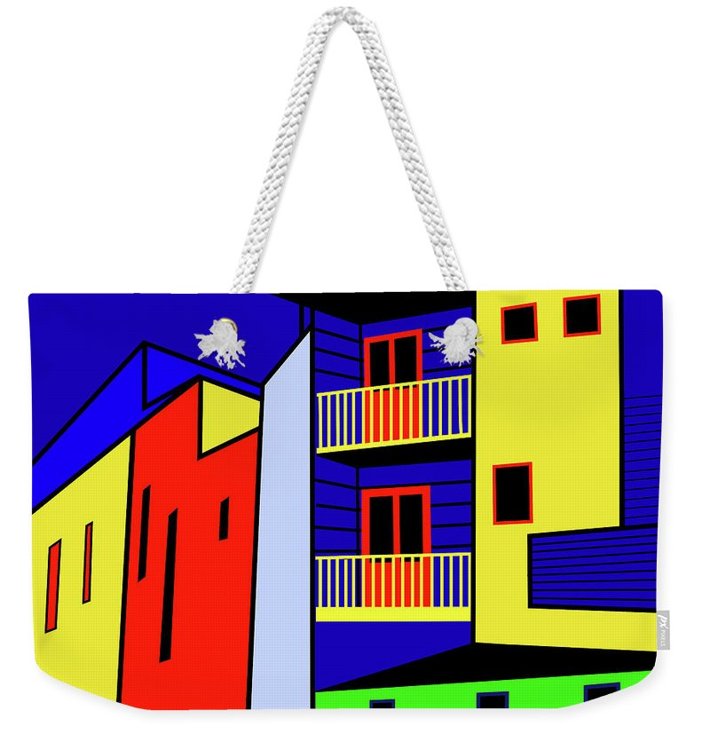 Caminito Buenos Aires Weekender Tote Bag featuring the digital art Caminito Buenos Aires by Asbjorn Lonvig