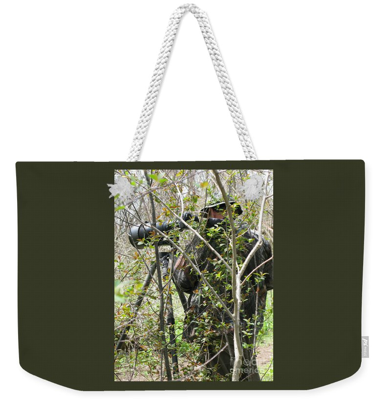 Photographer Weekender Tote Bag featuring the photograph Camouflage by Ann Horn
