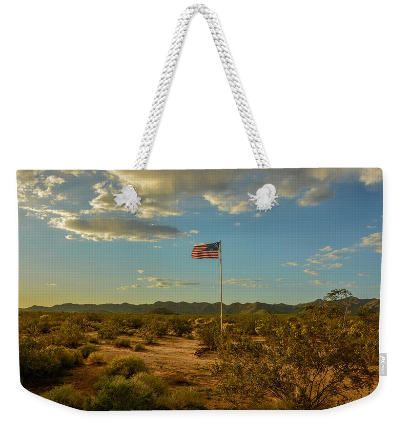 Landscape Weekender Tote Bag featuring the photograph Camp Bouse by Constance Puttkemery