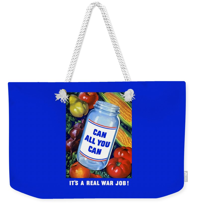 Canned Food Weekender Tote Bag featuring the painting Can All You Can -- Ww2 by War Is Hell Store