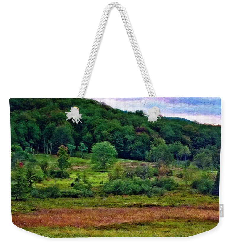 West Virginia Weekender Tote Bag featuring the photograph Canaan Valley Evening Impasto by Steve Harrington