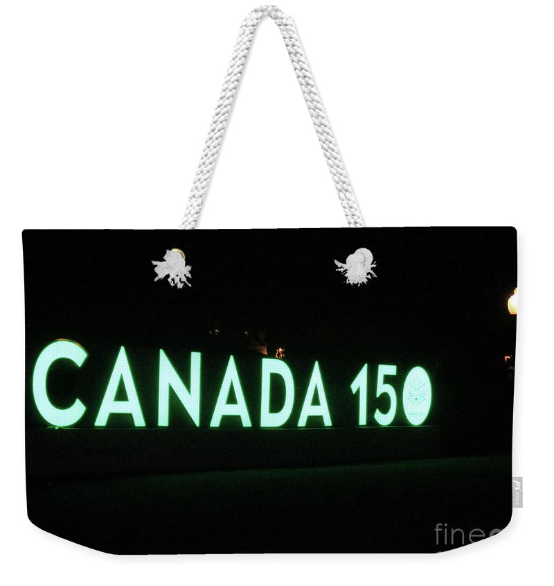 Montreal Quebec Weekender Tote Bag featuring the photograph Canada 150 by Randall Weidner