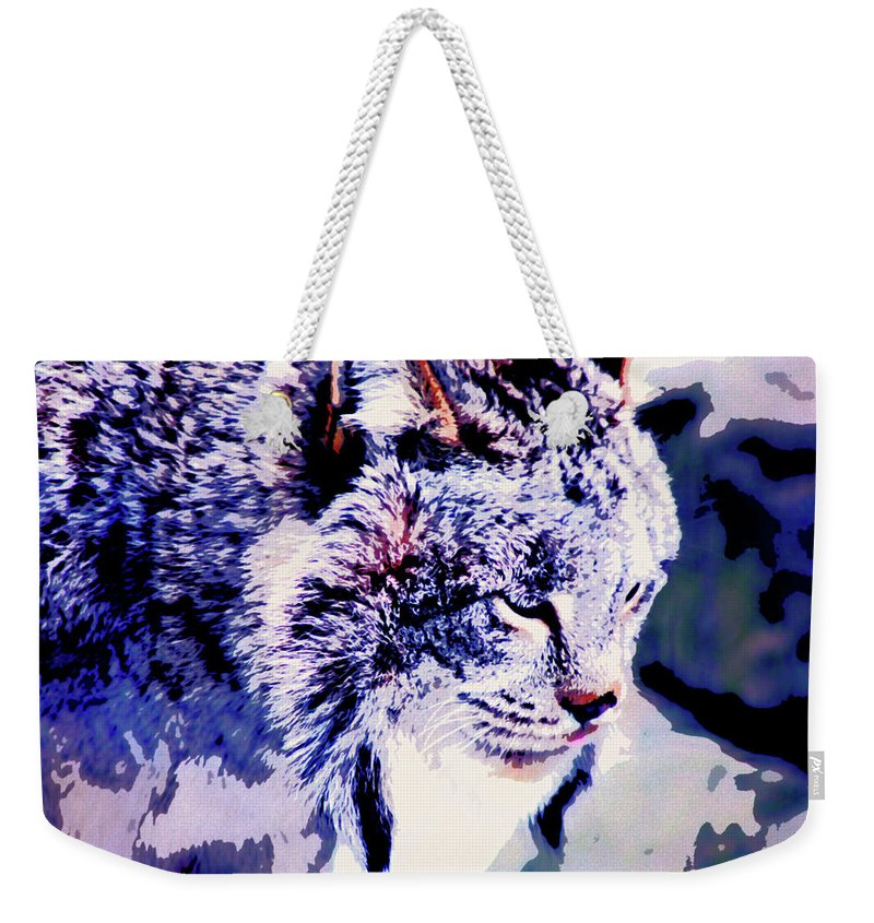 Lynx Weekender Tote Bag featuring the photograph Canadian Lynx 1 by Alicia Zimmerman