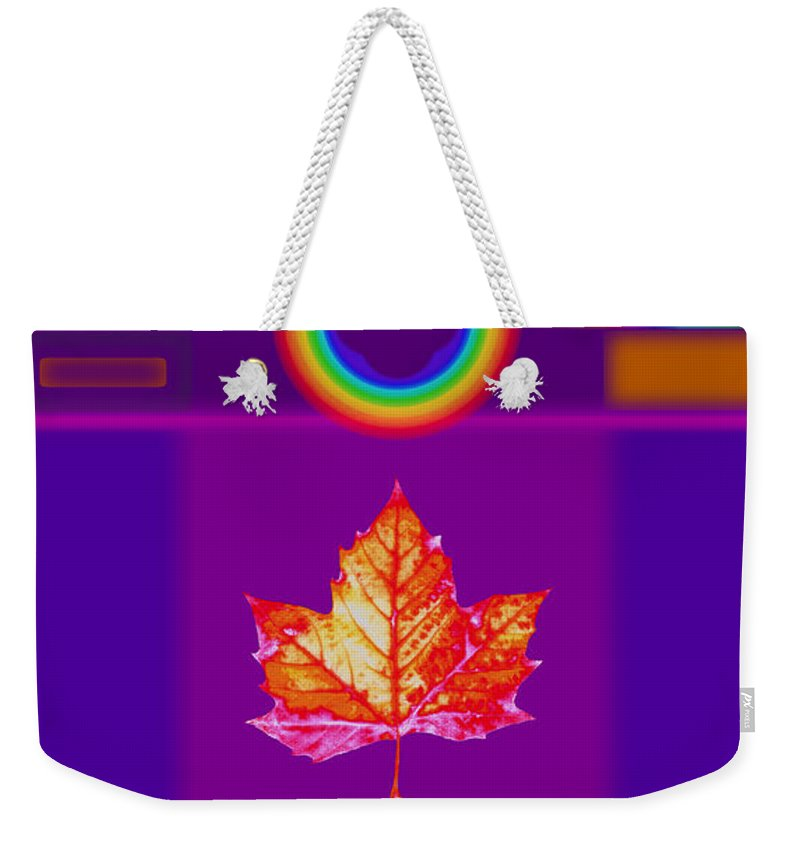 Classical Weekender Tote Bag featuring the digital art Canadian Palladian by Charles Stuart
