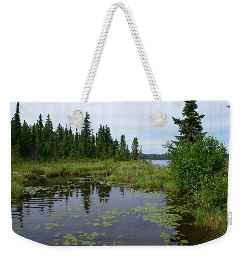 Canadian Wilderness Weekender Tote Bag featuring the photograph Canadian Shield by Joanne Smoley
