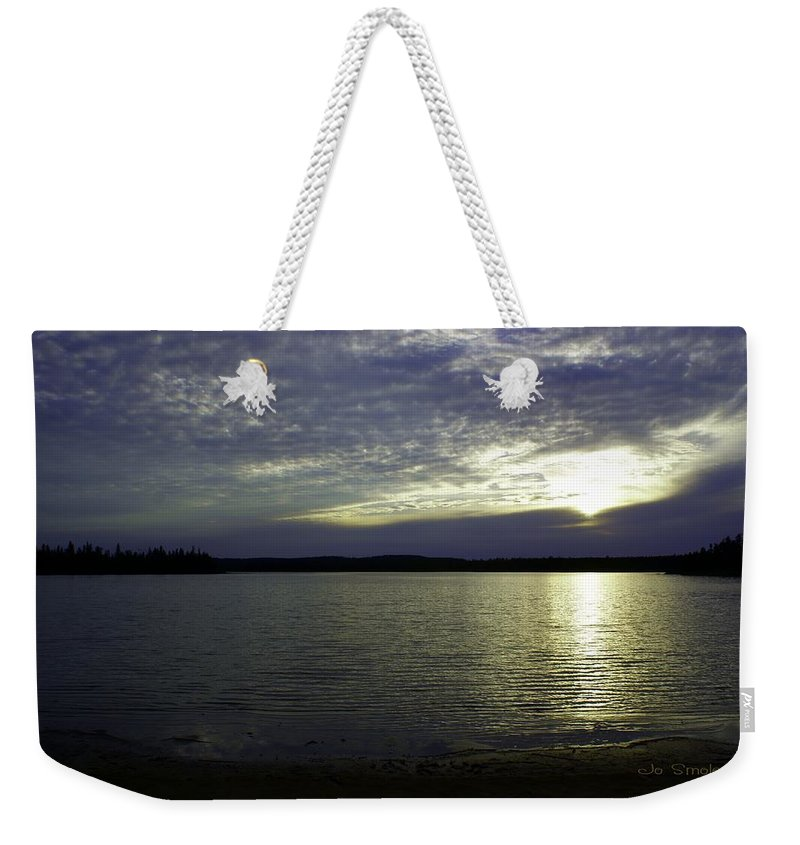 Sunset Weekender Tote Bag featuring the photograph Canadian Sunset by Joanne Smoley