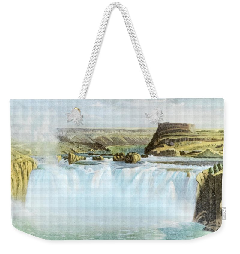 Canadian Weekender Tote Bag featuring the photograph Canadian Water Fall by Douglas Barnett
