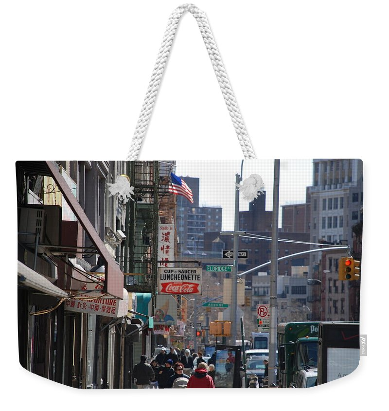 Architecture Weekender Tote Bag featuring the photograph Canal And Eldridge by Rob Hans