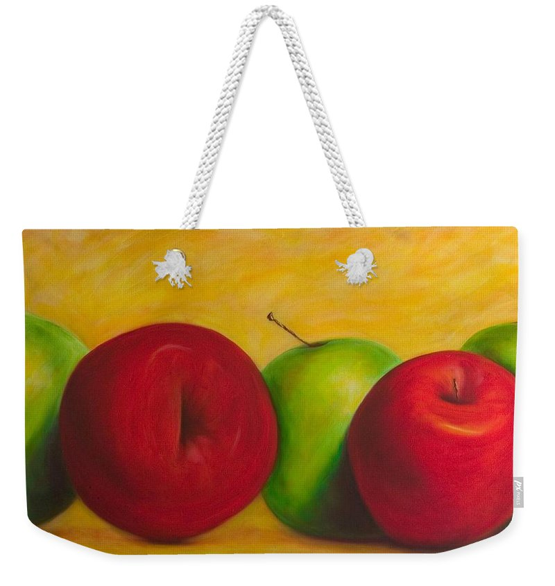 Still Life Weekender Tote Bag featuring the painting Cancan by Shannon Grissom