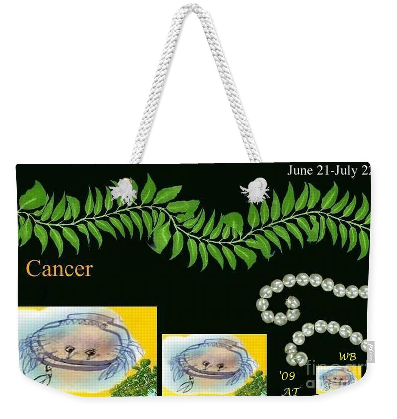 Cancer Weekender Tote Bag featuring the digital art Cancer With William Baumol by The Art of Alice Terrill
