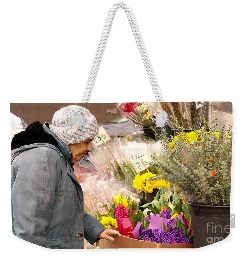 Woman Weekender Tote Bag featuring the photograph Candid Age by Mioara Andritoiu