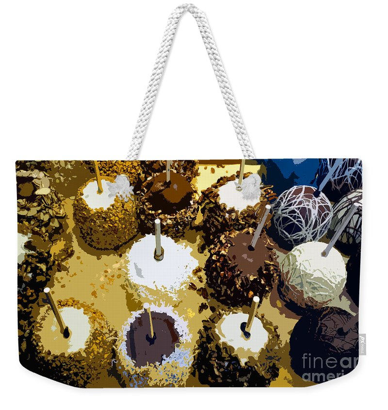 Candy Weekender Tote Bag featuring the painting Candied Apples by David Lee Thompson