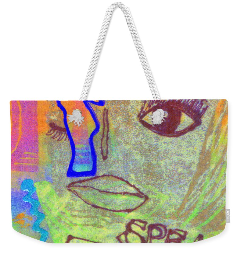 Woman Weekender Tote Bag featuring the mixed media Candor by Angela L Walker