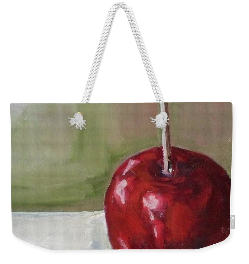 Candy Weekender Tote Bag featuring the painting Candy Apple by Kristine Kainer