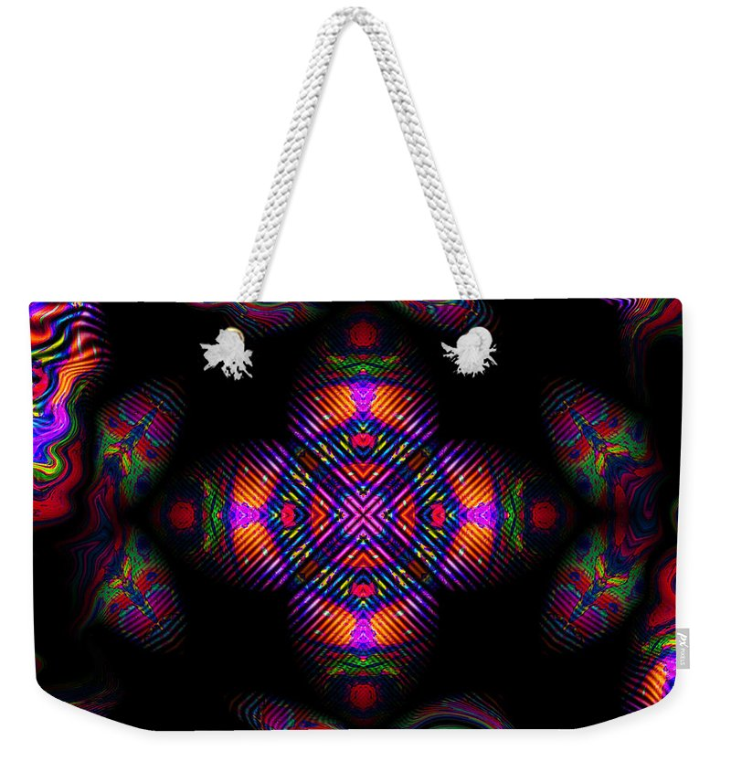 Colorful Weekender Tote Bag featuring the digital art Candy Art by Robert Orinski
