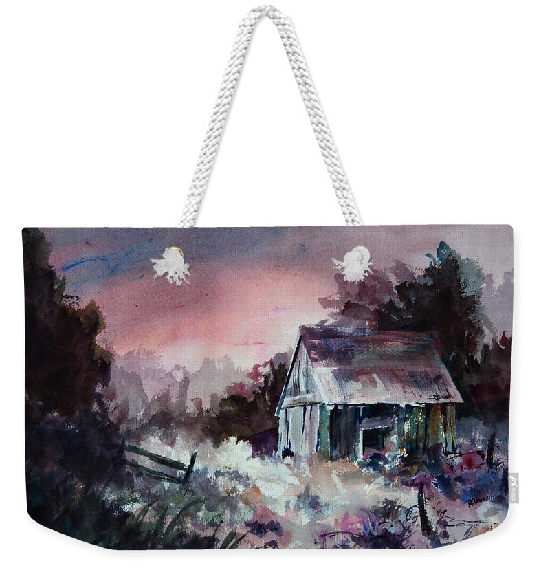 Shack Weekender Tote Bag featuring the painting Candy Cane by William Russell Nowicki