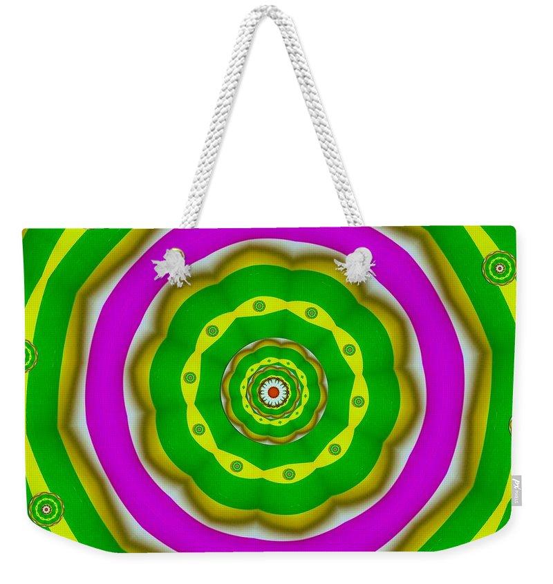Digitalart Weekender Tote Bag featuring the digital art Candy Colors Liberation by Pepita Selles