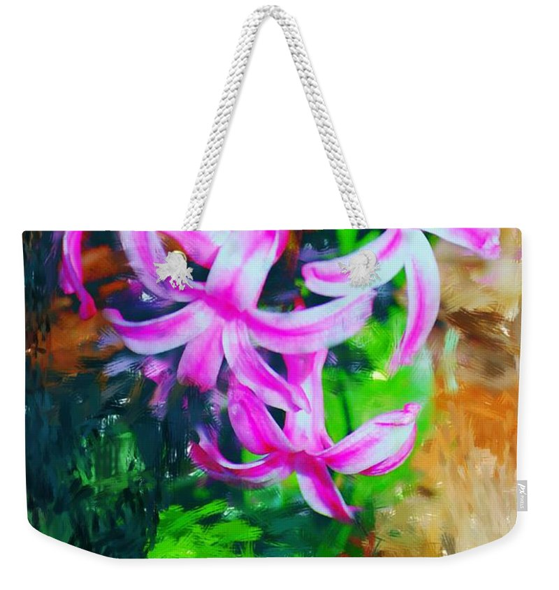 Weekender Tote Bag featuring the photograph Candy Striped Hyacinth by David Lane