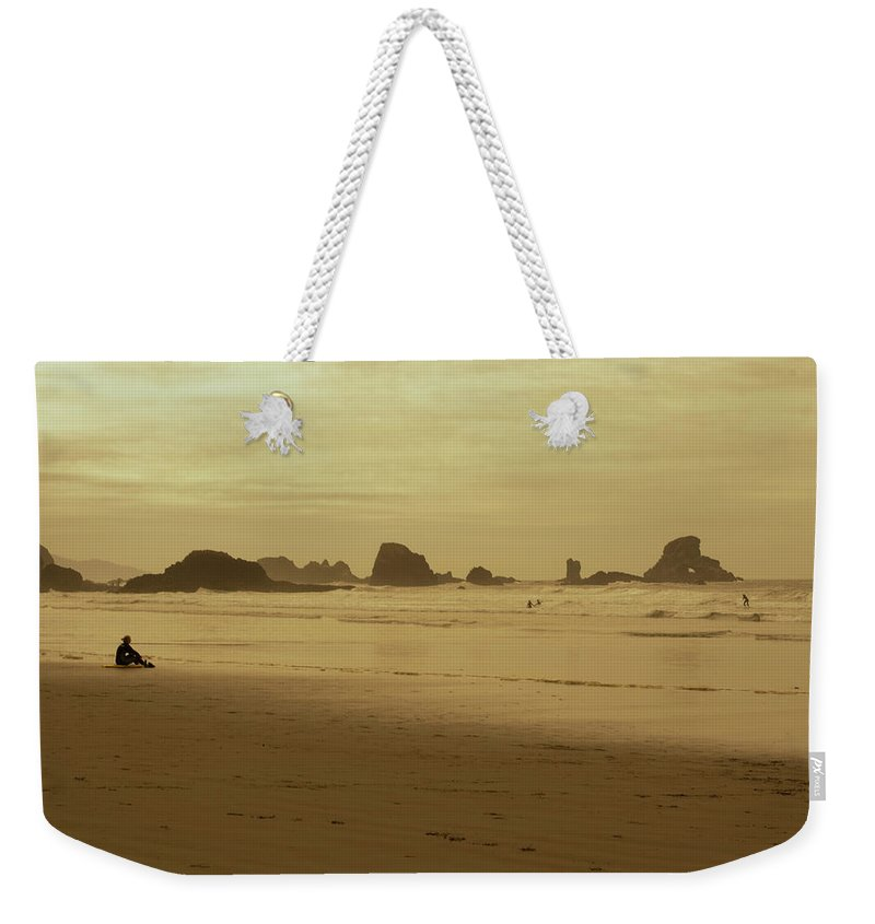 Weekender Tote Bag featuring the photograph Cannon Beach 3 by Marcel Van der Stroom