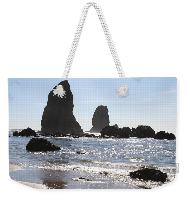 Sea Weekender Tote Bag featuring the photograph Cannon Beach II by Quin Sweetman