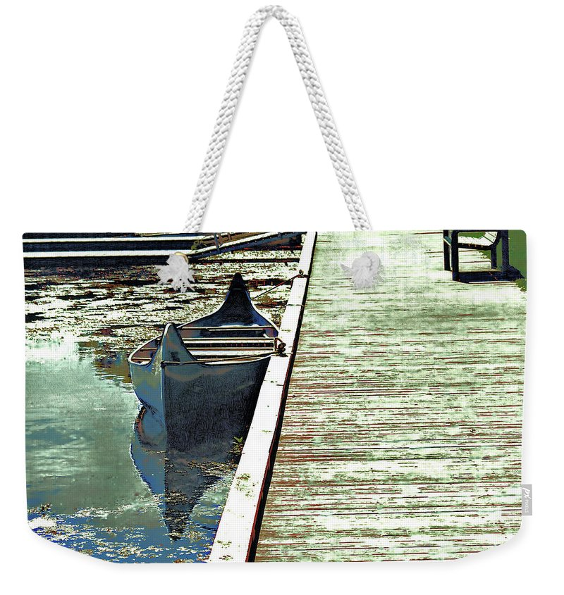 Weekender Tote Bag featuring the mixed media Canoe 2 by Barry King