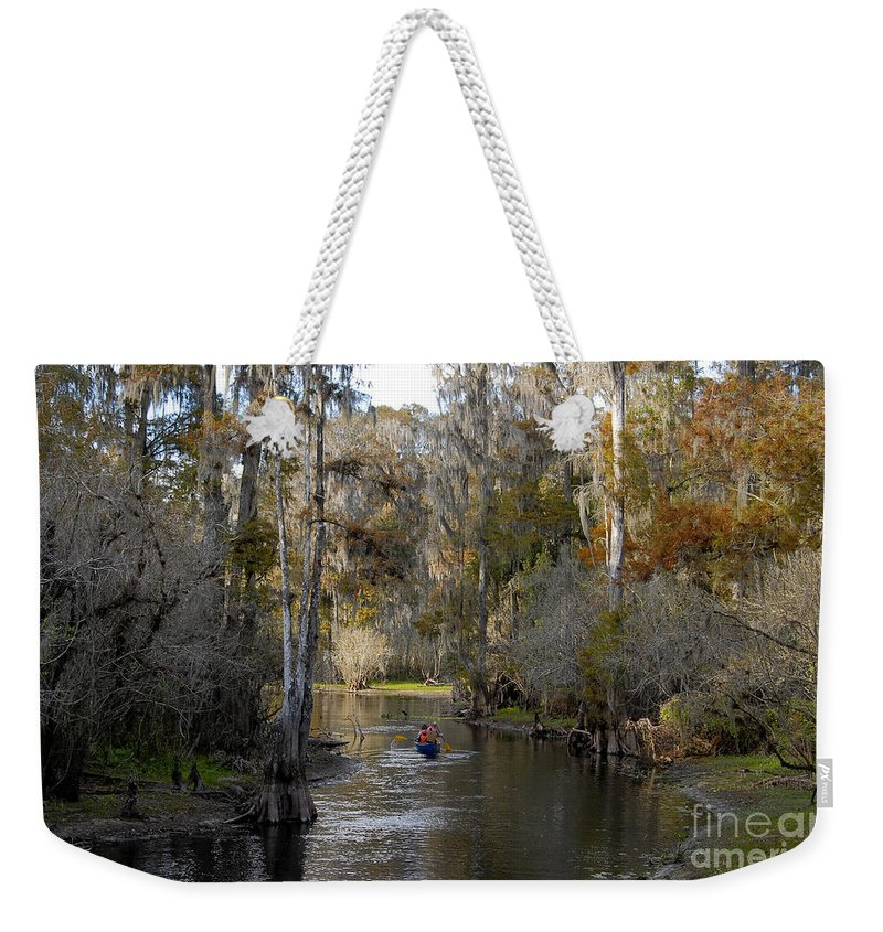 Family Weekender Tote Bag featuring the photograph Canoeing In Florida by David Lee Thompson
