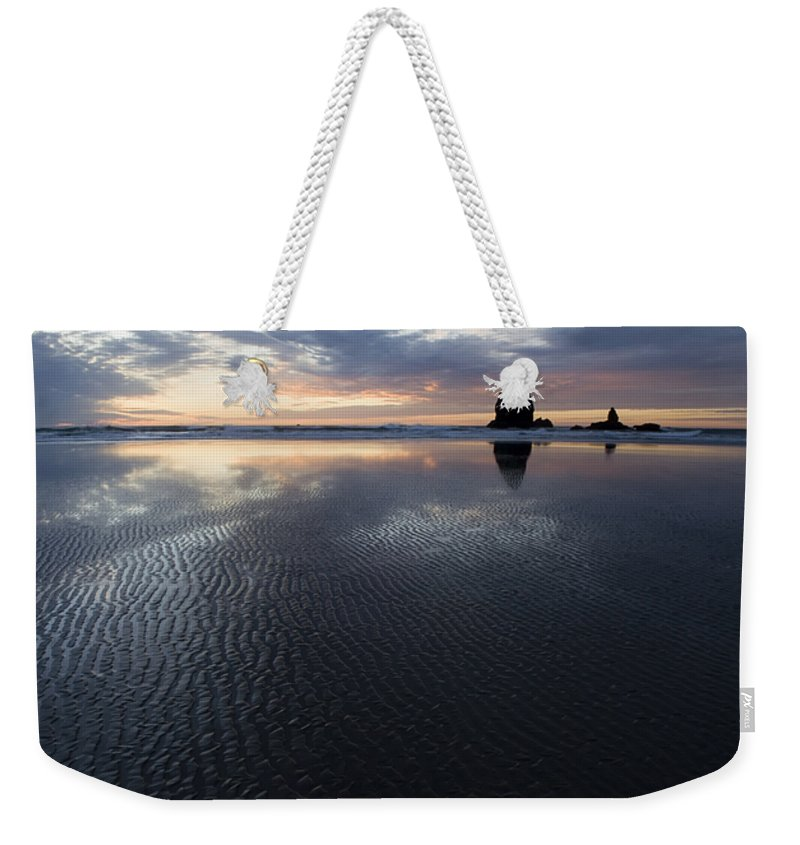Canon Beach Weekender Tote Bag featuring the photograph Canon Beach At Sunset 6 by Bob Christopher