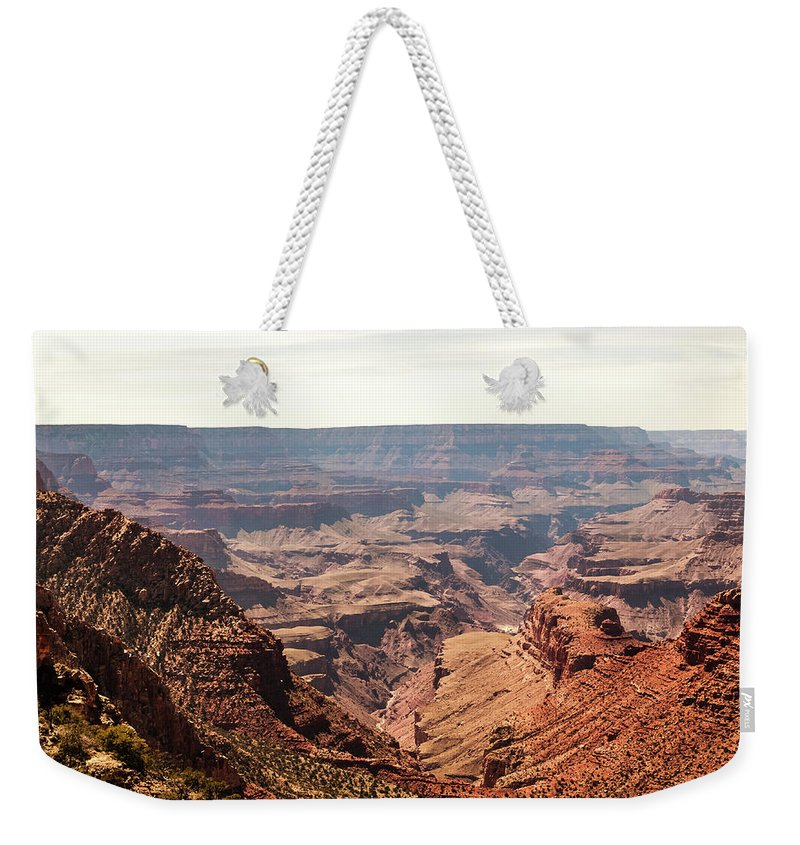 Grand Canyon Weekender Tote Bag featuring the photograph Canyon by Michelle Rollins