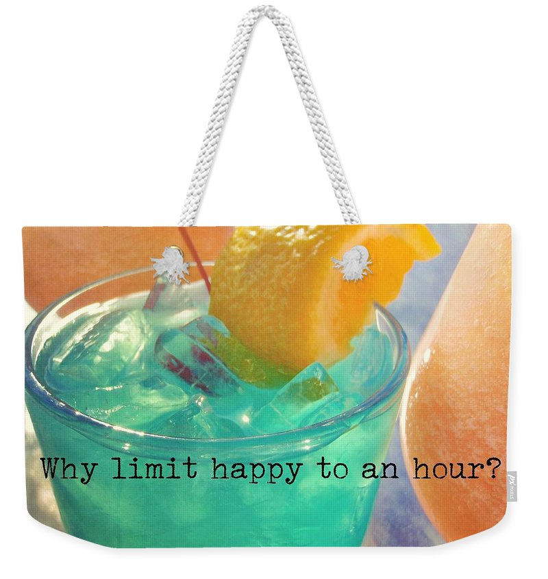 Drink Weekender Tote Bag featuring the photograph Cant You Taste It Quote by JAMART Photography