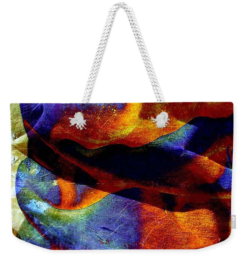 Canvas Weekender Tote Bag featuring the digital art Canvas by Ron Bissett