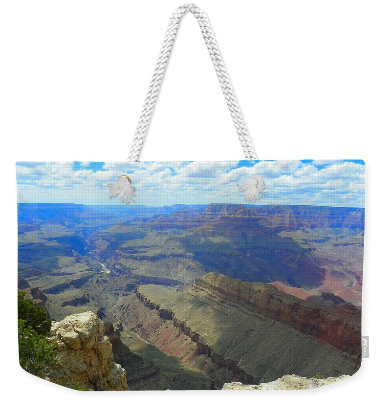 Grand Canyon Art Weekender Tote Bag featuring the photograph Canyon And Sky by Loring Laven