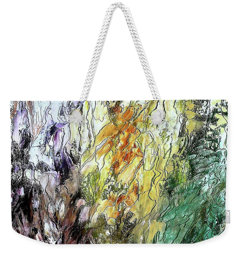 Canyon Weekender Tote Bag featuring the painting Canyon by Bellesouth Studio