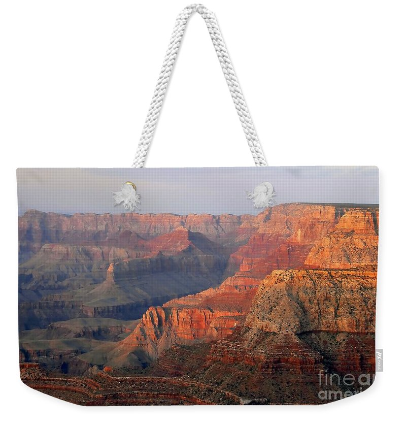 Grand Canyon Weekender Tote Bag featuring the photograph Canyon Dusk by David Lee Thompson