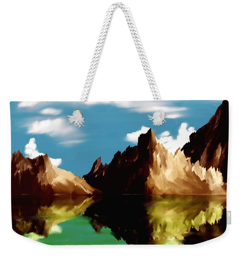 Digital Art Weekender Tote Bag featuring the digital art Canyon Lake by David Lane