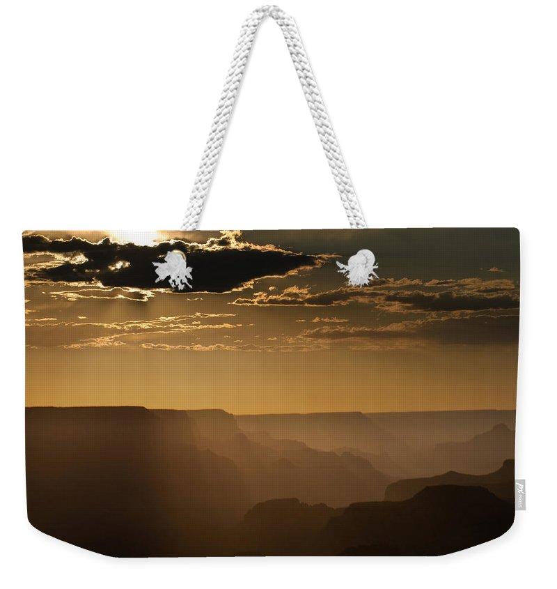 Arizona Weekender Tote Bag featuring the photograph Canyon Strata by Steve Gadomski