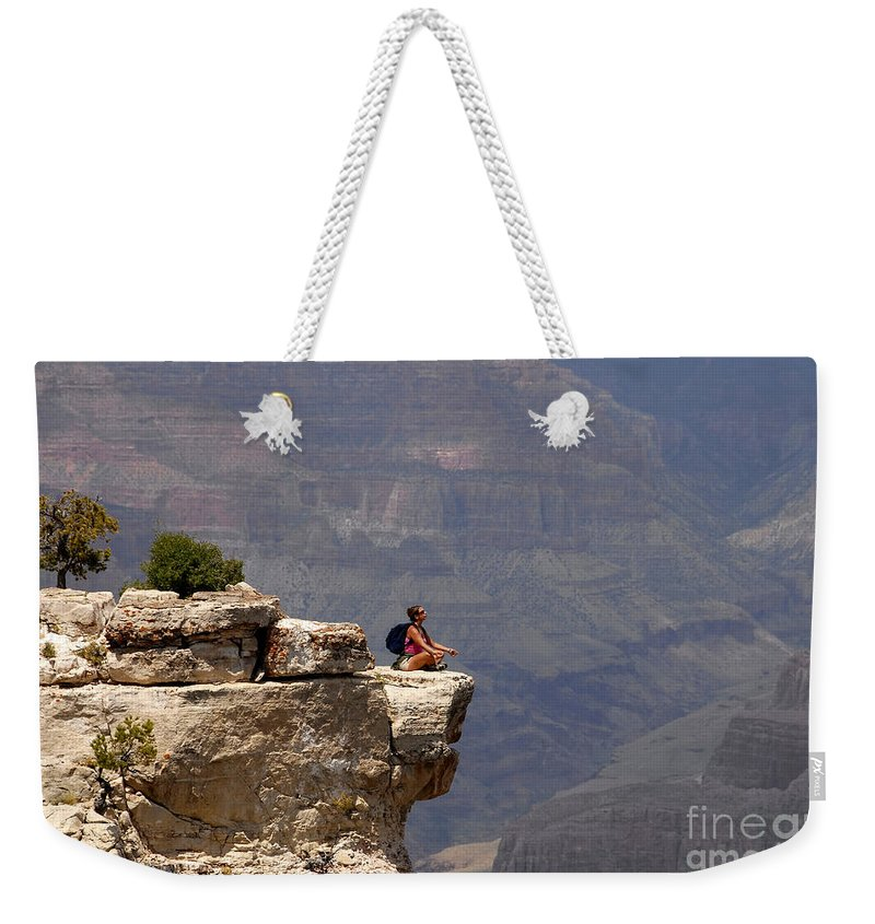 Grand Canyon National Park Arizona Weekender Tote Bag featuring the photograph Canyon Thoughts by David Lee Thompson