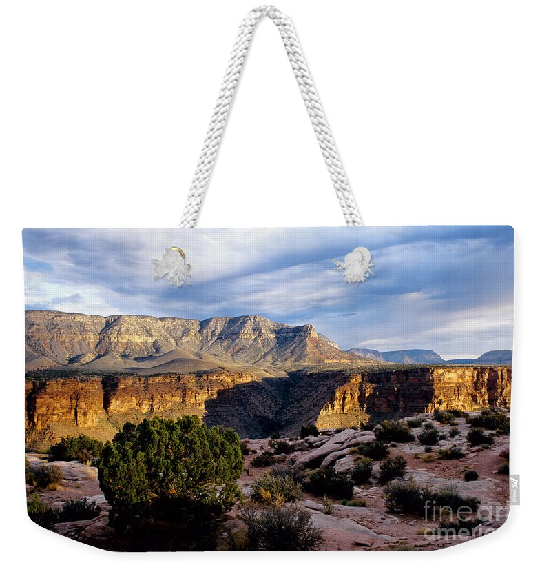 Toroweap Weekender Tote Bag featuring the photograph Canyon Walls at Toroweap by Kathy McClure