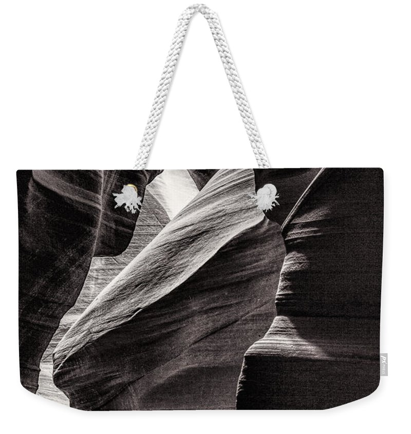 Antelope Canyon Weekender Tote Bag featuring the photograph Canyon Walls by Diana Powell
