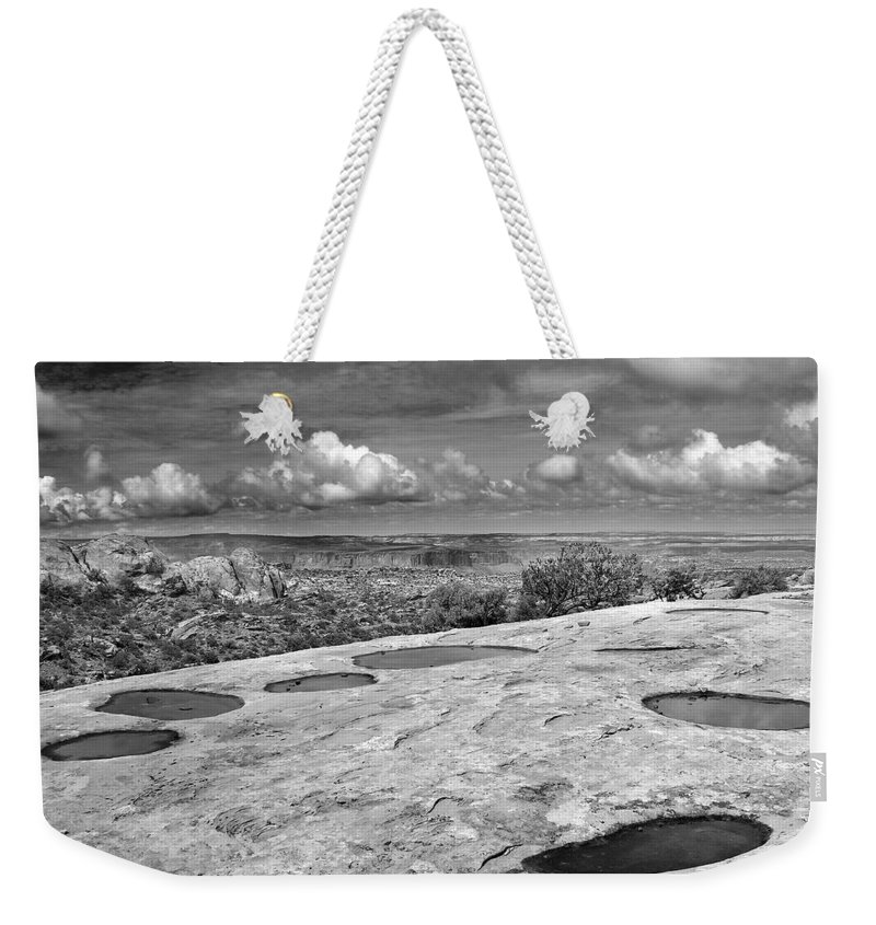 Americana Weekender Tote Bag featuring the photograph Canyonlands Puddles by Marilyn Hunt