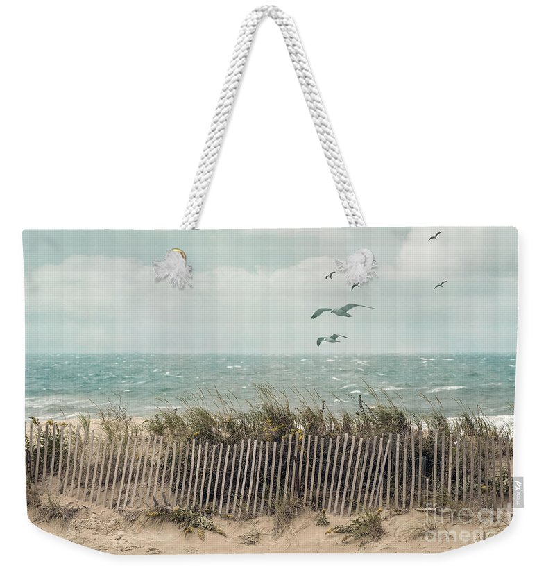 dfc8735c8b1a Barrier Weekender Tote Bag featuring the photograph Cape Cod Beach Scene by  Juli Scalzi