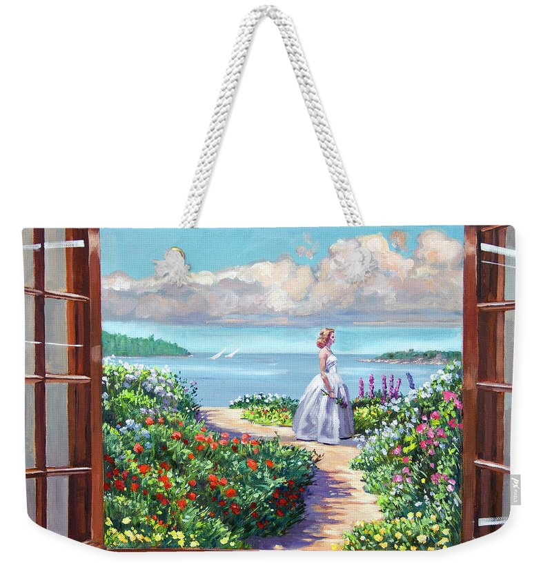 Fantasy Weekender Tote Bag featuring the painting Cape Cod Beauty by David Lloyd Glover