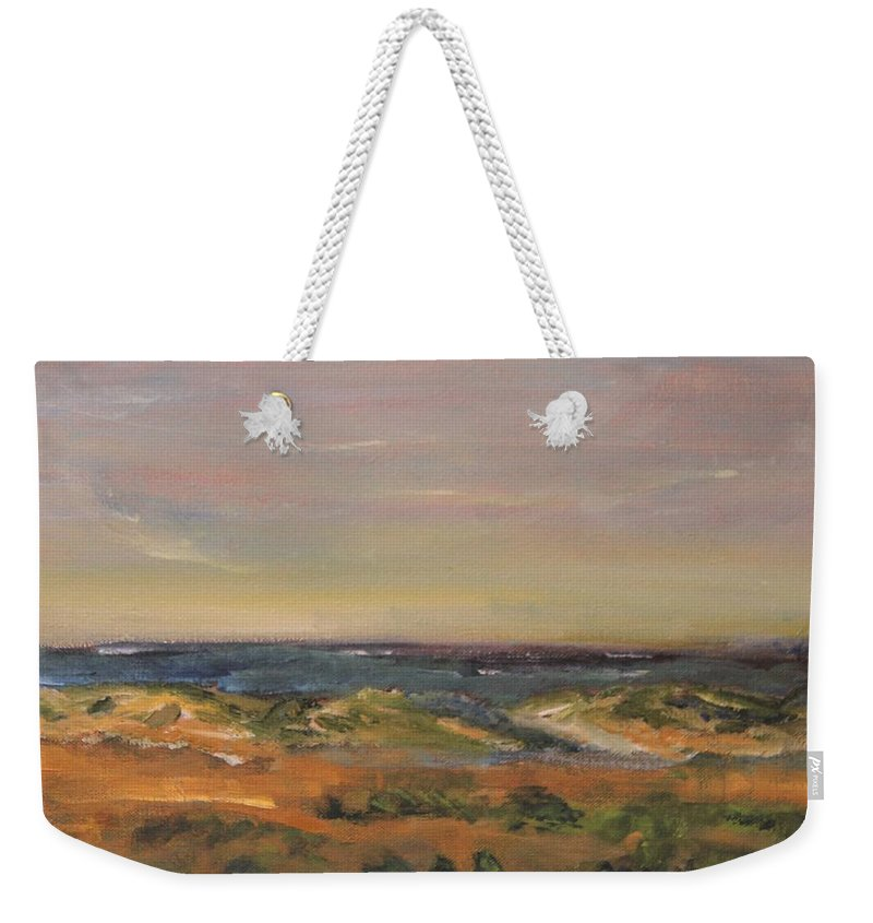 Nature Weekender Tote Bag featuring the painting Cape Cod Marsh by Michael Helfen