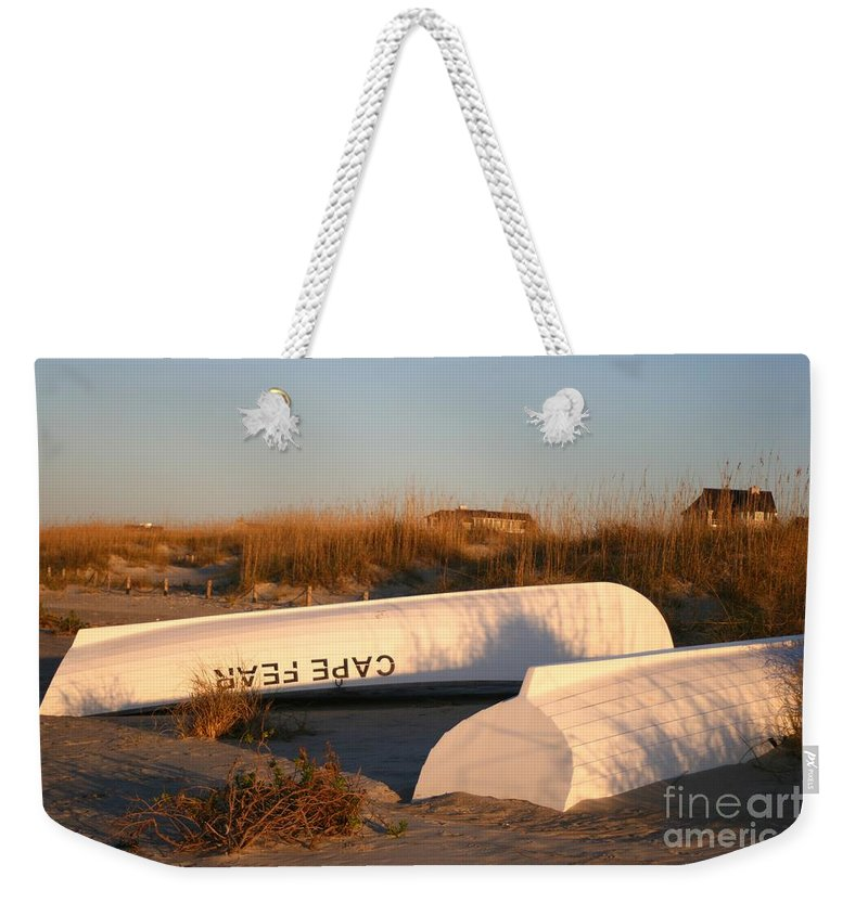 Boats Weekender Tote Bag featuring the photograph Cape Fear Boats by Nadine Rippelmeyer